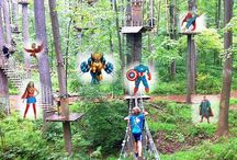"""Dress Like A Superhero Day! / Come in costume on Saturday, June 6, and get $3 off your admission fee.  Leave the capes and masks at home, though; we want to keep you safe!  The park will be open 9:00am-6:00pm, but remember that the last full climb time is 3:30pm and the """"Last Call"""" climb time is 4:00pm (reduced fee, shorter climb time)."""