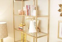 Gold home decor & furniture