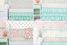 Mint and Pink Nursery Design / Mint and Pink make a timeless nursery color combination. Caden Lane has a ton of great bedding and accessories to choose from with these popular colors.