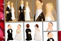 Figuras para bodas en papel mache / No te pierdas nuestras figuritas de novios para el pastel de boda