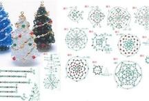 vánoce korálky