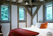 Cosy Bedroom Ideas / Timber frame bedrooms, part of timber frame houses by Carpenter Oak Ltd - creators of hand crafted timber frame buildings.