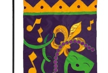 Mardi Gras House Flag and Garden Flag