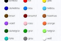 Nemčina farby