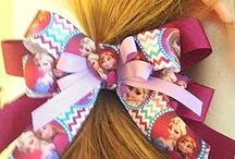 Bows for Clips, Headbands, and Pony tail holders! / Frozen, University of Kentucky, University of Louisville, Doc McStuffins and many more!