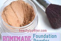 natural homemade makeup recipes / by Bekah Fargason