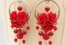 κόκκινα σκουλαρίκια