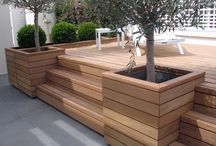 Decking wooden box