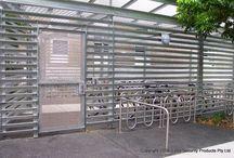 Bicycle hitching rails / Bicycle hitching rails