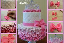 Gâteau en pâte a sucre