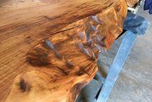 Encimeras de madera / Encimeras de madera rústica para cocinas.