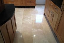 Travertine Tiles / Evidence of travertine cleaing and travertine restoration serving Berkshire.