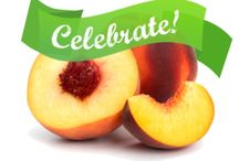 National Peach Month / August is National Peach Month and here in Georgia we cannot get enough of our glorious peaches. Would you believe peaches are a member of the rose family and have been cultivated for more than 3000 years? Talk about a superfruit!