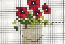 Bloemen: borduurpatronen