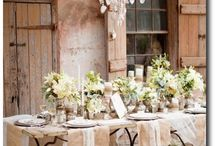 Wedding tables spaces & lighting