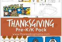 Week 15 Thanksgiving - K Homeschool
