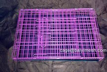 dog cage / 1.Sturdy enough to last through all stages of a dog's life 2.Adjustable living and roaming space 3.Durable, easy clean plastic pan 4.Easily sets up and folds down, easy of storage and transportation