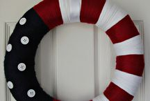 Fourth of July Wreaths / Light up the house with a festive wreath!