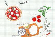 ilustracion comida