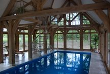 Oak Framed Swimming Pool / Recently completed Oakland Vale Ltd Design and Build project.