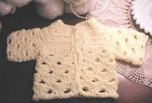 Baby clothes, Crocheted.