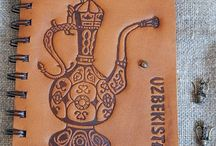 Блокноты и ежедневники с кожаной обложкой . Notebooks , journals  with handmade leather cover . / Original handmade souvenir leather notebook , journal . Блокноты , ежедневники  с кожаными обложками ручной работы .