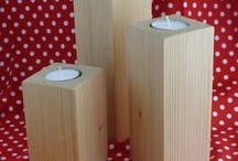 Look What We Made! / Rustic Candle Holders finished in light beeswax