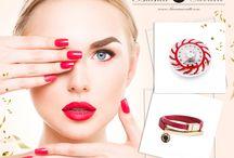 Czerwone paznokcie / Magia żywej czerwieni i biżuteria, która z nią współgra :)