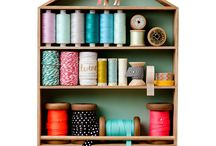 Spare Bedroom & Sewing Room / Decor Ideas for the spare bedroom & sewing room. Bright and fun. Pretty room.