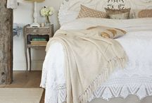 French Style Bedrooms / French interior designs often use big luxurious pieces, curvaceous elegance and a combination of neutral colours with beautiful patterns. The main feature is usually the bed, the upholstered headboard or the wall next to it with a classic armoire or tall crest wall mirror.