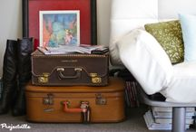 Suitable Trunk Decor / We recently inherited some vintage suitcases and trunks from our great-grandparents, so I decided to compile some decor and DIY ideas!