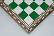 Inlaid Plastic Chess Boards - chessbazaar.com / This beautiful Board is made of Shesham  on the darker side and Box Wood on the lighter side. The frame of the Chess Board is made of Shesham Wood (Golden Rose Wood).