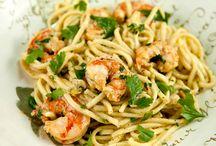 Recipes, prawns, scallops, shrimp, etc.