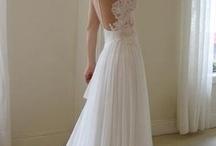 Floaty beach wedding dresses