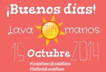 Dia Mundial del Lavado de Manos / El día Mundial del Lavado de Manos se celebra el 15 de octubre. Las fotos de este tablero son promoviendo dicho día y la importancia del Lavado de Manos en nuestra vida cotidiana.