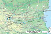Bulgaria / Enjoy some maps we've created of Bulgaria. Find out more about our maps on our website (http://www.pcgraphics.uk.com) or on our other Pinterest Boards.
