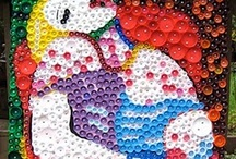 Art Projects:murals, bottle cap, group  / by Jane Hastings