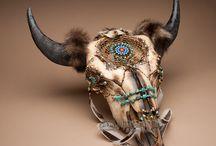 longhorn skull  gipsy style