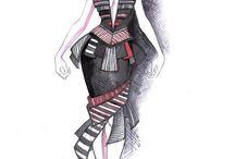 Fashion Design Drawings / by MotiveGadgets.com
