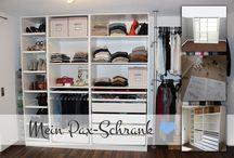 Begehbarer Kleiderschrank / IKEA Pax Schrank / Mein Pax Schrank & wie ich ihn so aufgeteilt habe