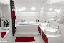 očkodesign - vínová, bílá koupelna pod střechu / Pokud Vás zaujal tento nebo jiný návrh a nevíte si rady se svým interiérem, neváhejte mi zavolat, rád Vám pomohu :)   Petr Molek interiérový design 737167676 www.ockodesign.cz info@ockodesign.cz