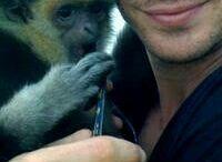 Ian Somerhalder with animals / Protégeons l'environnement ainsi que tout être vivant! prenons exemple sur Ian Somerhalder