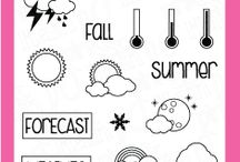 Weather / Clear stamp from pinkandmain.com