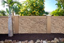 Concrete fence wall