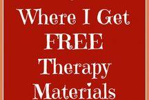 Terapimaterial och idéer