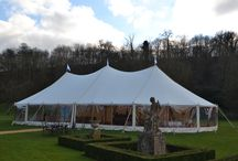 Vintage Canvas Wooden Pole Marquee / Our Canvas Wooden Pole Marquee offers a beautiful space. With its wonderful sweeping roof lines and gorgeous interiors this marquee will be a key factor in a day you will always remember. Its interior needs no lining as the roof space is already stunning and its big panoramic windows allow you to enjoy the beauty around you- a huge perk to a marquee wedding.