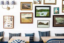 Interiors / Inspiring collections, art and picture collages. Interior design inspiration.