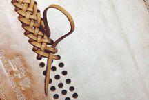 обработка , плетение и пошив изделий из кожи