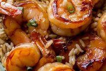 poissons crevettes