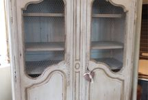 French Antique Armoires / There is nothing more French than an Antique Armoire. So many uses too